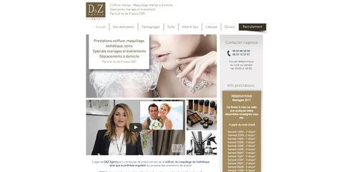 Site Wix | Agence de mise en beauté de la mariée V.2015 | Indé-Design