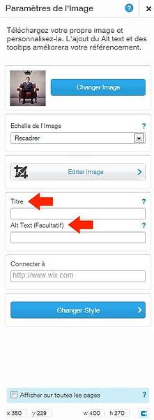 Référencement photo site WIX - conseils d'Indé-Design