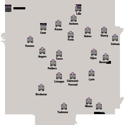 carte des centres experts régionaux réseaux loc