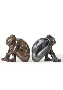Vouivre bronze et aluminium
