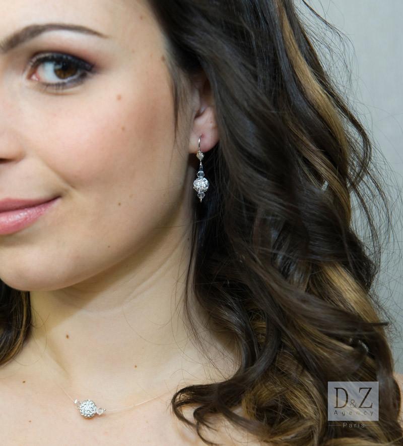 boucle d'oreille mariée - D&Z Agency - coiffure mariage et accessoires - Photo Indé-Design