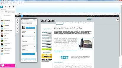 aide en ligne par Skype avec Indé-Design - graphiste sur Wix