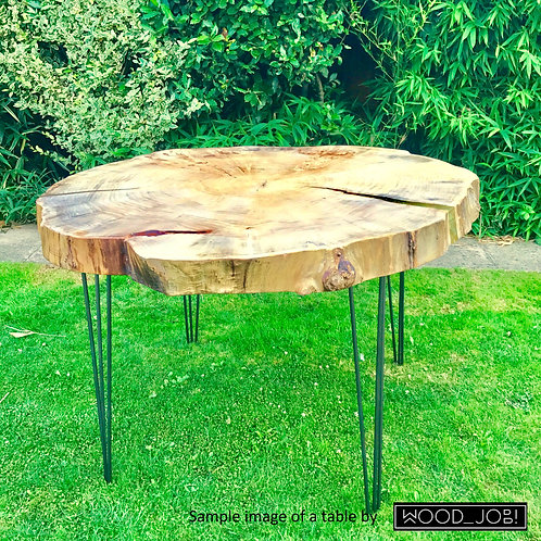 0002 Willow dining table top
