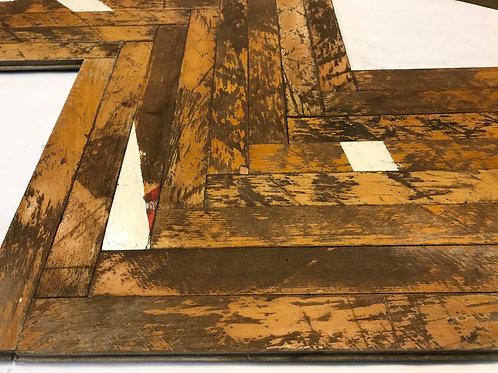 8. Reclaimed Beech Wood Parquet Flooring 70s 80s XX century