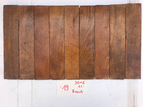 19A. Reclaimed Beech Wood Parquet Flooring 50s XX century From a Flat