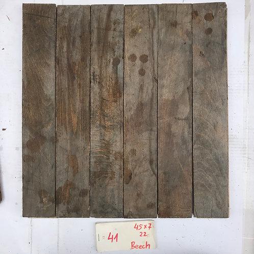 41. Reclaimed Beech Wood Parquet Flooring 60s XX Century