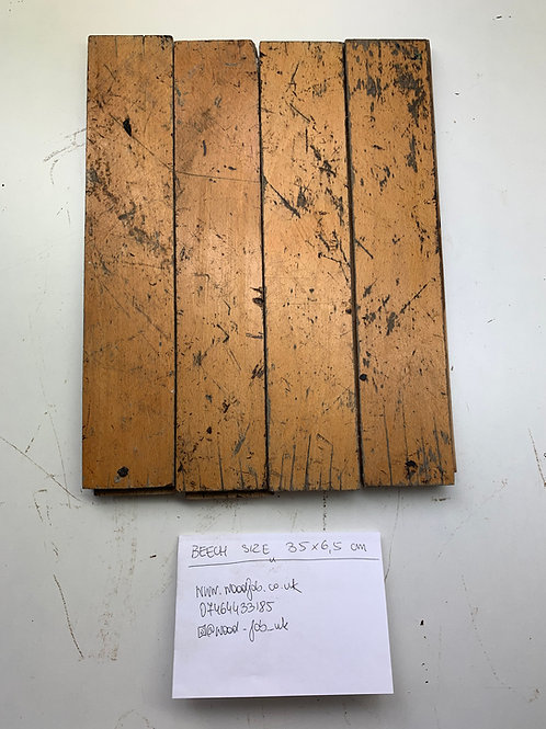 S3565. Reclaimed Beech Beautiful Wood Parquet Flooring