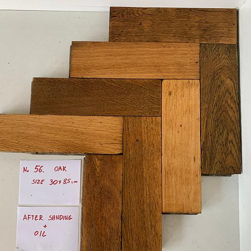 57. Reclaimed Oak Wood Parquet Flooring 1930s XX Century