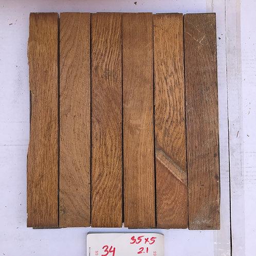 34. Reclaimed Oak Wood Parquet Flooring 20s/30s XX Century