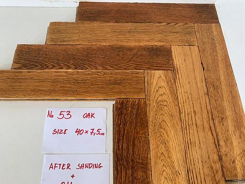53. Reclaimed Oak Wood Parquet Flooring 1950s XX Century