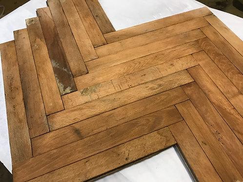 R10 404. Reclaimed Beech Wood Parquet Flooring 70s 80s XX century