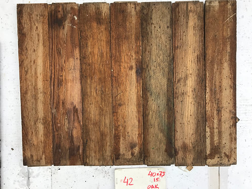 42. Reclaimed Oak Wood Parquet Flooring 20s/30s XX Century