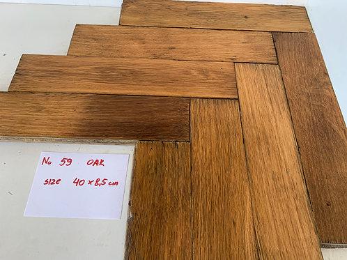 59 Reclaimed Oak Wood Parquet Flooring 1930s XX Century