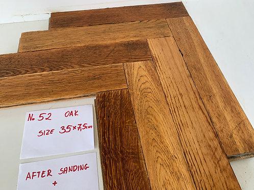 52. Reclaimed Oak Wood Parquet Flooring 1930s XX Century
