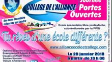 AGENDA :  Journée Portes Ouvertes -Découverte de la section Secondaire à l'Ecole et au Collège d