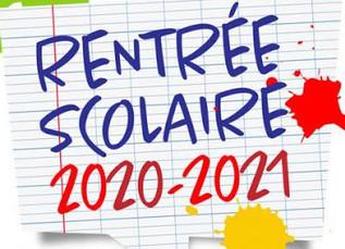 RENTRÉE SCOLAIRE 2020