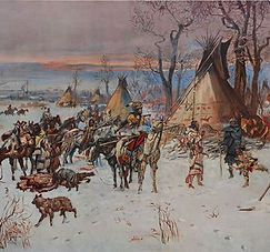 Indian Hunters return in winter