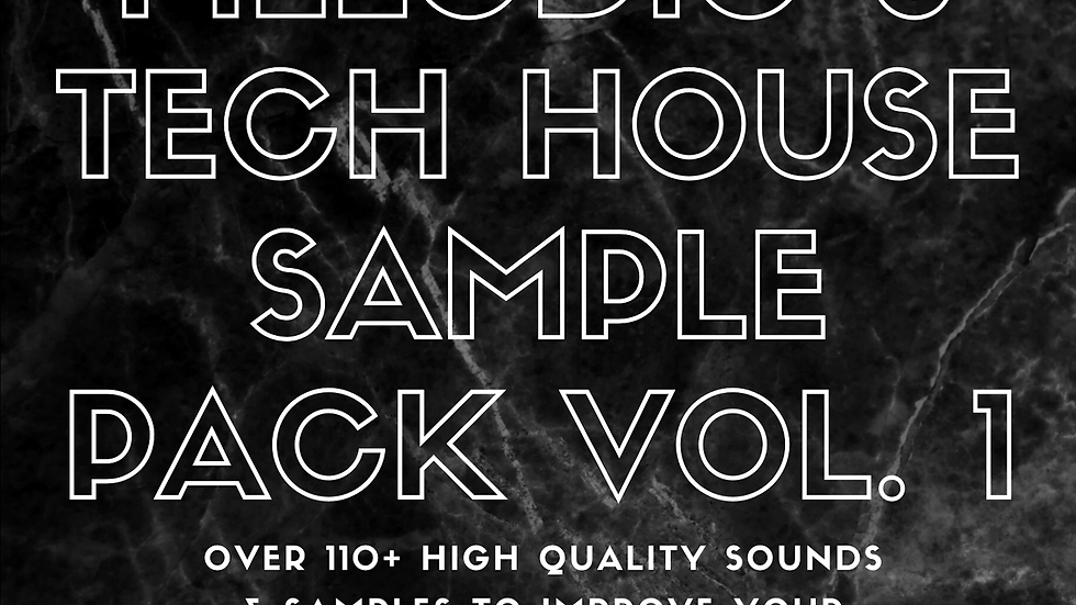 Melodic Techno & Tech House Sample Pack