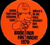 1970 Fasnachtsplakette Baden