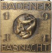 1931 Fasnachtsplakette Baden