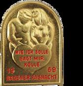 1969 Fasnachtsplakette Baden 1