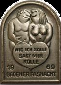 1969 Fasnachtsplakette Baden 2