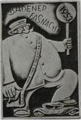1953 Fasnachtsplakette Baden