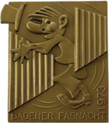 1973 Fasnachtsplakette Baden 1