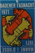 1971 Fasnachtsplakette Baden 2