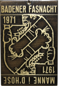 1971 Fasnachtsplakette Baden 1