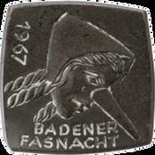 1967 Fasnachtsplakette Baden