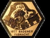 1977 Fasnachtsplakette Baden 1