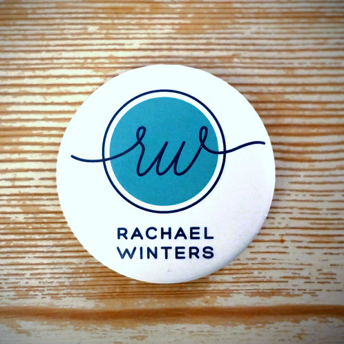 Button - Teal with Script