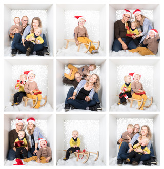 Christmas photos in the box