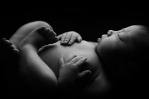 Photo détails bébé nouveau né