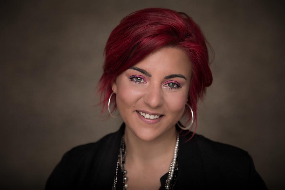 Portrait femme Genève maquillage