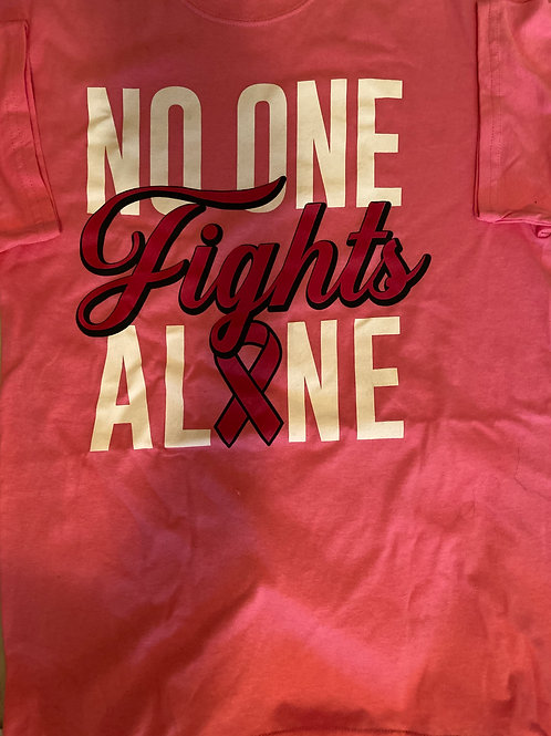 Breast Cancer AwarenessT-Shirt No One Alone