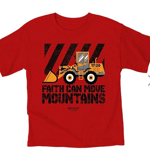 Faith Can Move Mountains Kids Tee