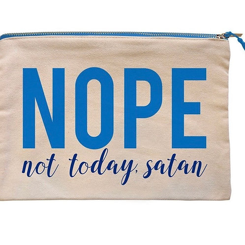 Not Today Satan Canvas Bag