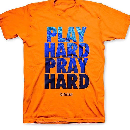 Pray Hard Play Hard Kids T-Shirt