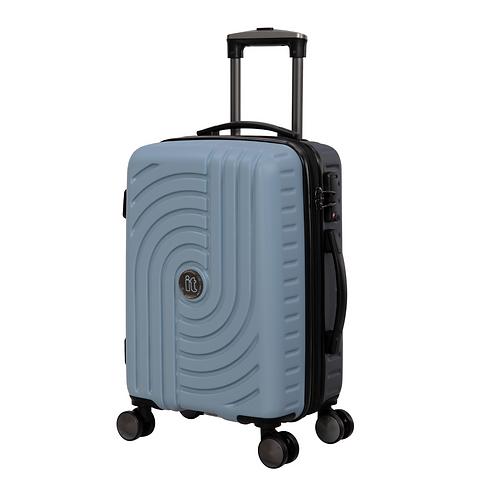 Чемодан модель Duo-mix синий туман/серый