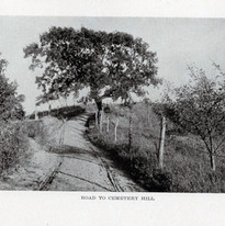 Road to cemetery hill
