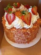 Strawberry Crunch Cake