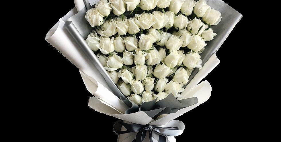 60 White Roses
