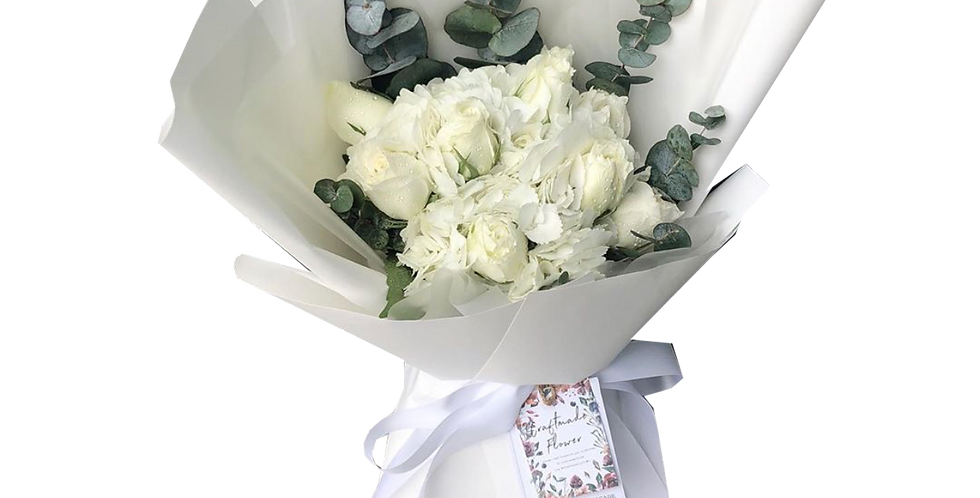 White Tone Hydrangeas & Roses