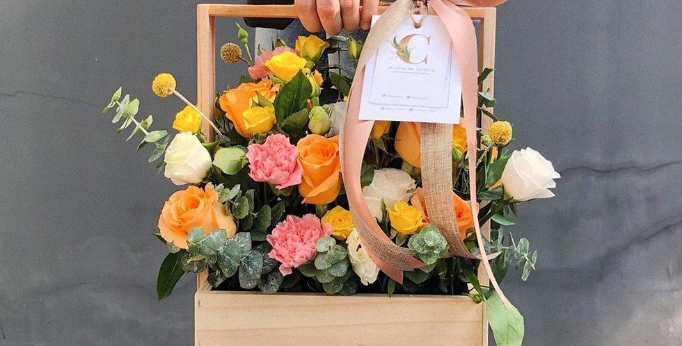 Colourful Flower Basket