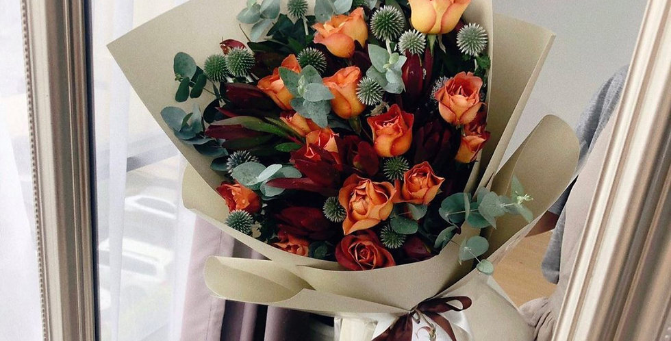Coffee Roses Bouquet