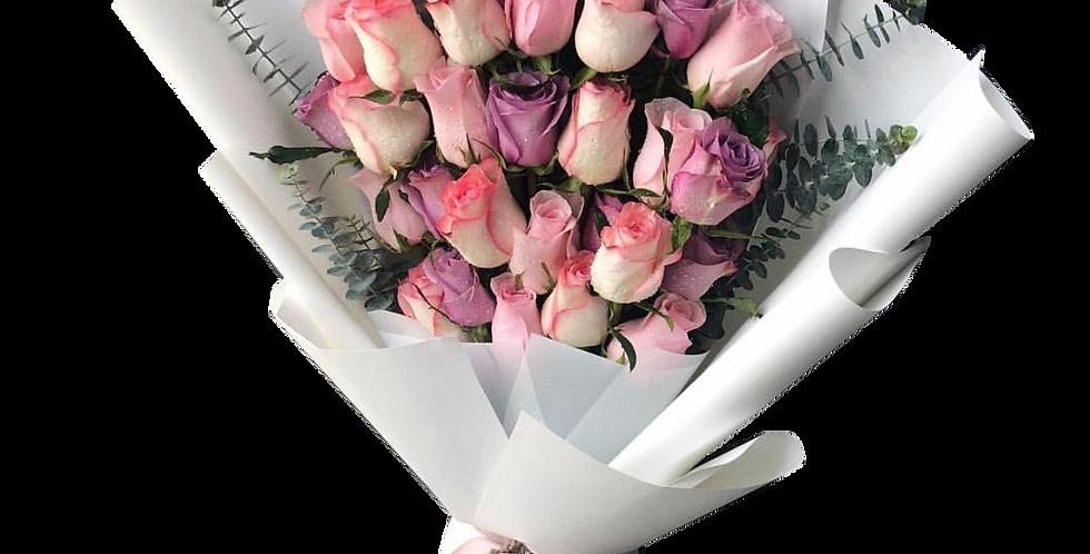 30 Pink Tone Roses