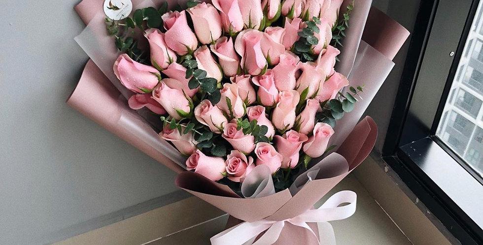 40 Light Pink Roses