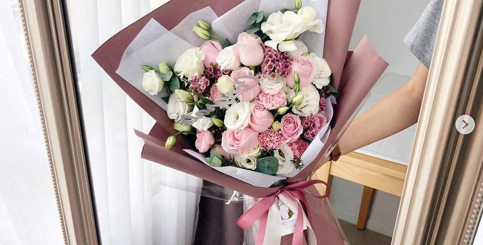 A Mix of Pink Tone Flowers